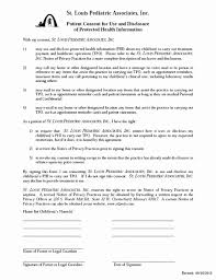 Medical Release Form For Child Template New Consent To Treat Forms A ...