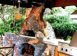 outdoor pizza oven fireplace s and plans combo
