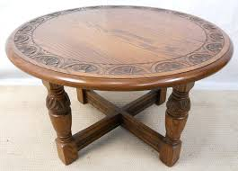 antique round coffee table carved oak coffee table by sold antique oak coffee table for