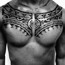 50 Tribal Hrudníku Tetování Pro Muže Mužské Myšlenky Designu