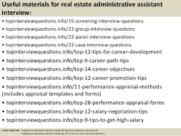 Interview Questions And Answers For Office Assistant Top 10 Real Estate Administrative Assistant Interview