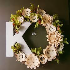 Christmas Paper Flower Wreath Paper Flower Wreath Tutorial Craftgawker