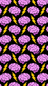 dark cute pattern wallpaper. Perfect Dark Brains Cute Spooky Creepy Halloween Brain Lightning Electric Repeat Pattern  Wallpaper Phone IPhone Macabre Dark Art Illustration Drawing Casper Spell  Intended O