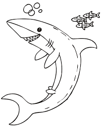Small Picture Coloring Pages Of Fish And Sharks Coloring Pages