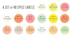 Avery Jar Labels Spice Jar Labels Template Monfared Co