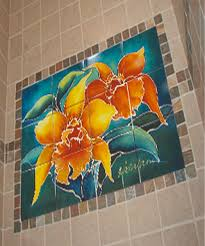 ceramic printing custom tile mural flowers