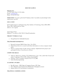 Sample Resume For Software Engineer Fresher Download Bongdaao Com