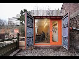 container office design. converted shipping container named londons best office extension news architects journal design