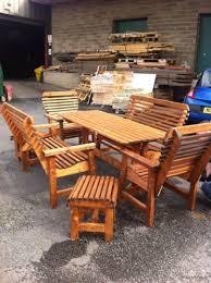 wooden garden furniture patio set 6ft
