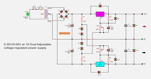 Power Supply Design Using Lm317 0 60v Dual Variable Power Supply Circuit By Lm317 Lm337
