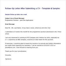 Resume Follow Up Email Achievable Screenshoot Letters Sample