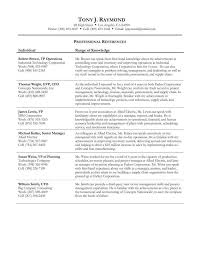 Resume Sample With References Resume And Cover Letter Resume And