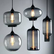 smoked glass pendant light glass industrial pendant light modern smoky grey shade loft cafe ceiling lamp smoked glass pendant light new glass urn