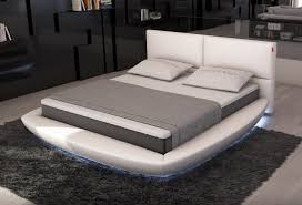 Led Bedroom Furniture Lia Modern Bed With Led Lights Contemporary Bedroom