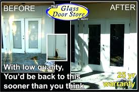 replace sliding glass door with french door can you