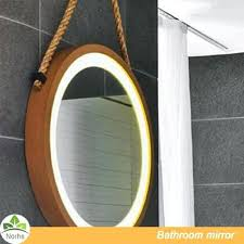 rustic wood framed mirrors. Mirrors Wood Framed Unique Wall Leather Hanging Rustic Circle Natural Wooden Frame With Round Led