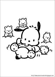 Printable hello kitty coloring pages are suitable for kids of all ages. Pochacco Coloring Pages Educational Fun Kids Coloring Pages And Preschool Skills Worksheets