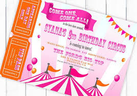 Circus Party Invitation Extraordinary A Carnival Circus Themed Birthday Party Driven By Decor