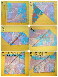 How to easily make a continuous strip of bias tape...this is super ... & Easy to follow steps for making continuous bias binding tape from a square  of fabric. Adamdwight.com