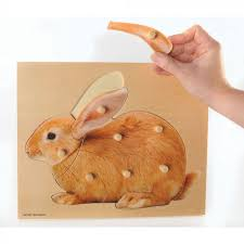 resources for thes teachers pas and carers wooden peg puzzle rabbit winslow