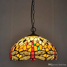 european dragonfly tiffany chandelier restaurant bar vintage nostalgic colored glass lighting coffee creative lamps with 149 19 piece on