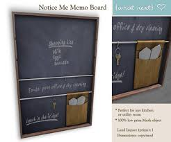 Next Memo Board Fascinating Second Life Marketplace What Next Notice Me Memo Board Kitchen