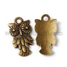 antique bronze tibetan style owl pendants x tibep 4141 ab ff