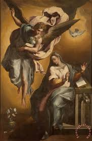 the annunciation of mary painting gregorio martinez the annunciation of mary art print
