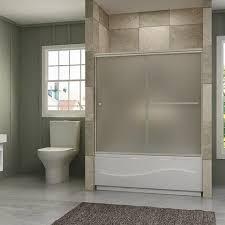 frameless frosted glass shower doors. Sunny Shower Semi-Frameless Bypass Frosted Glass Bath Tub Door Brushed Nickel B020223 Frameless Doors D