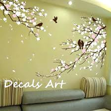 stickers teenage girl bedroom wall decals nursery elegant white flower tree wall sticker wall decals pretty