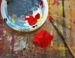 when your drywalled poppy is dry paint with red acrylic we used 2 diffe reds