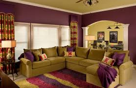 Wall Paint Colors For Living Room Nice Purple Nuance Of The Interior Living Room Of The Wall Paint