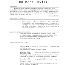 Artist Sample Resume Makeup Artist Objective Resumeample Examples Template Templates Free 24