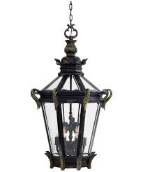 large outdoor hanging lights 95 overwhelming shown in heritage with gold finish and clear beveled glass