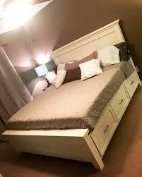 White King Size Storage Bed   Ana White