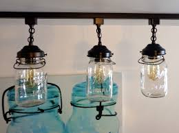 vintage track lighting. A Mason Jar TRACK LIGHT Of 3 Vintage Quarts - Light Fixture The Track Lighting G