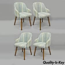 west elm style furniture. Plain Style West Elm Blue Upholstered Alva Dining Chairs Mid Century Modern Style Set  Of 4 With Furniture O