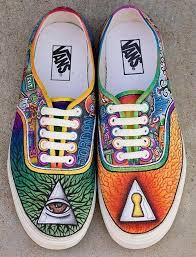 vans custom. pin drawn vans custom design #9