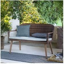 wicker garden bench wicker garden bench garden seats outdoor wicker bench set rattan garden storage bench