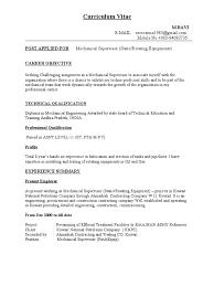 Cv For Mechanical Supervisor Petroleum Gas Compressor