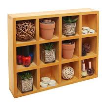Wooden Freestanding / Wall Mounted 12 Compartment Shadow Box / Display  Shelf Shelving Unit - MyGift
