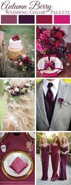 Autumn Berry Wedding Color Palette