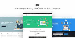 Html5 Website Templates Gorgeous Six Web Design Hosting SEOSMM Portfolio HTML48 Responsive