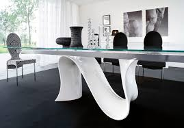 Glass Kitchen Table Sets Contemporary Glass Dining Room Furniture Collective Dwnm