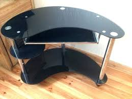curved office desk. Curved Office Desk Glass Computer Amazon In Black Regarding Plans 0 Home .