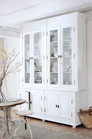 Sideboards, White Hutch With Glass Doors White China Cabinet With Glass  Doors Kitchen Hutch Kitchen