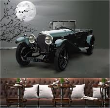 Custom Mural Foto 3d Behang Retro Art Auto Achtergrond Wanddecoratie
