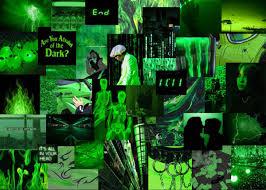 neon green aesthetic laptop wallpaper ...