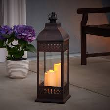 san nicola triple led candle lantern antique bronze smart living