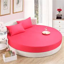 3 Pieces Solid Color 100% Cotton Round Fitted Sheet Set Round Bed Sheet  Bedding Set Customizable Mattress Topper 200cm 220cm-in Bedding Sets from  Home ...